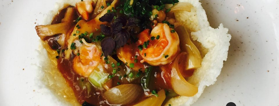 Las recetas de Sushita: wok de langostinos con arroz crunch