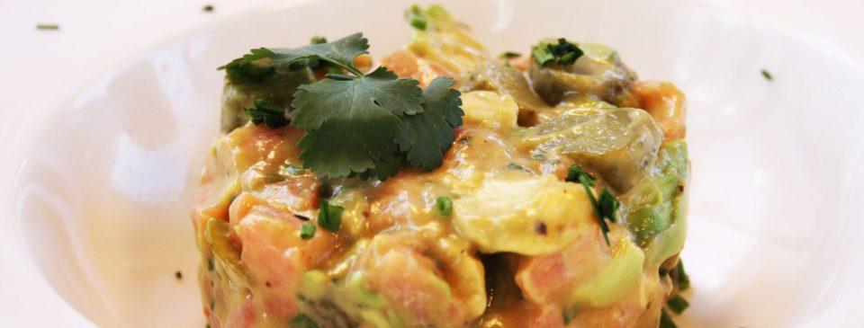 Tartar de salmón sushita